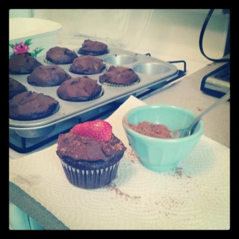 Vegan Chocolate Cupcakes on Hurray Kimmay (Photo by Kim Caldwell)