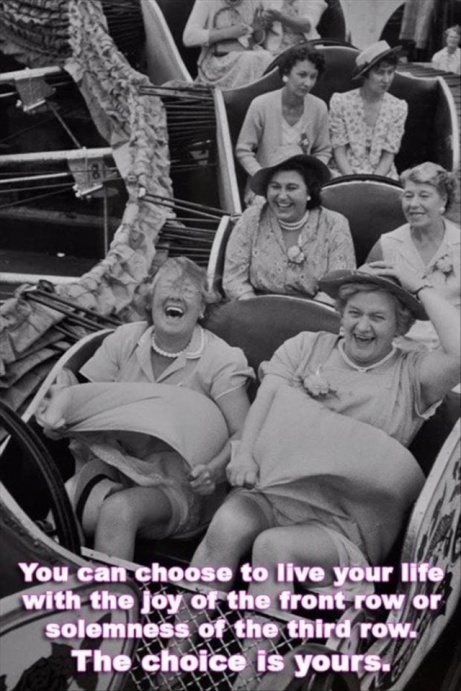 Live life in the first row - via Hurray Kimmay blog